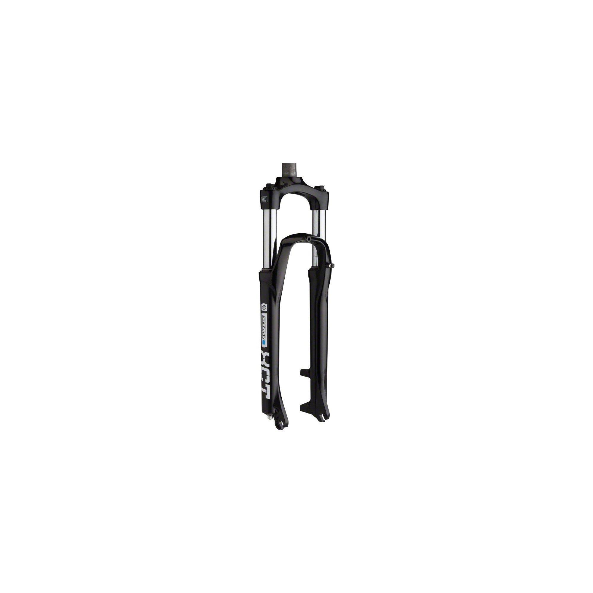 SR Suntour XCT Suspension Fork: 26'', 1-1/8'' Threadless Steerer, 100mm Travel, Disc, Black