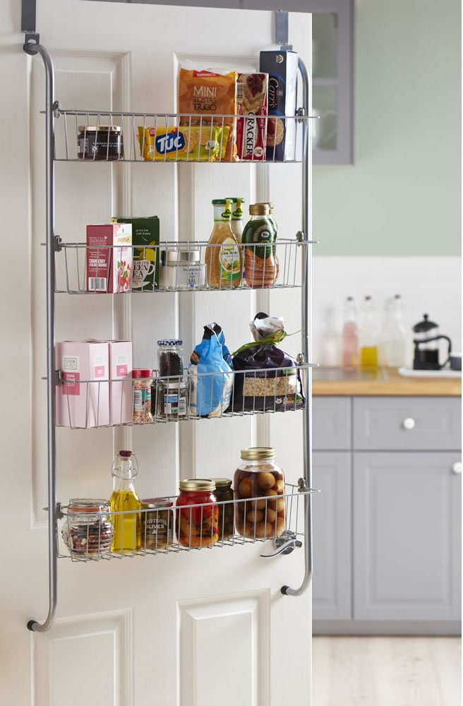 4 Tier Over Door Hook Hanging Food Cupboard Storage Rack dylex