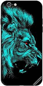 حافظة لهاتف ايفون 6 - رسمة أسد عين حمراء