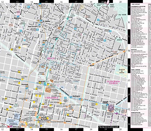 Streetwise Barcelona Map - Laminated City Center Street Map of Barcelona, Spain (Streetwise (Streetwise Maps))