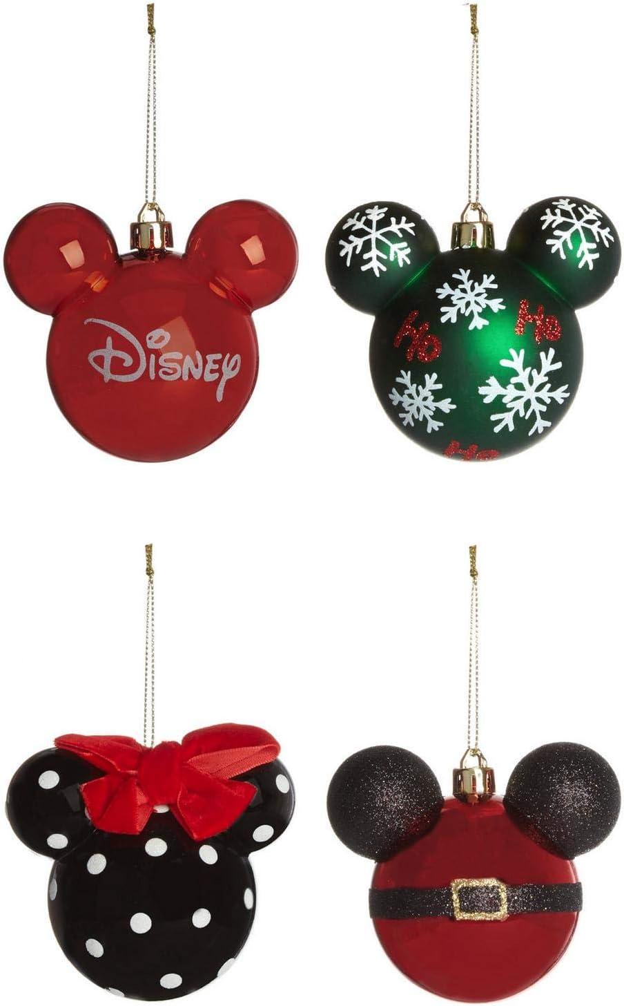 Primark Licensed Disney Mickey & Minnie Mouse Decoración Pack 4 Bolas de Navidad Grandes: Amazon.es: Hogar