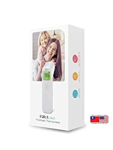 FORA IR42 Non-Contact Forehead Thermometer, Made in Taiwan, Fever Indicator for Baby, Kids, Toddlers and Adults
