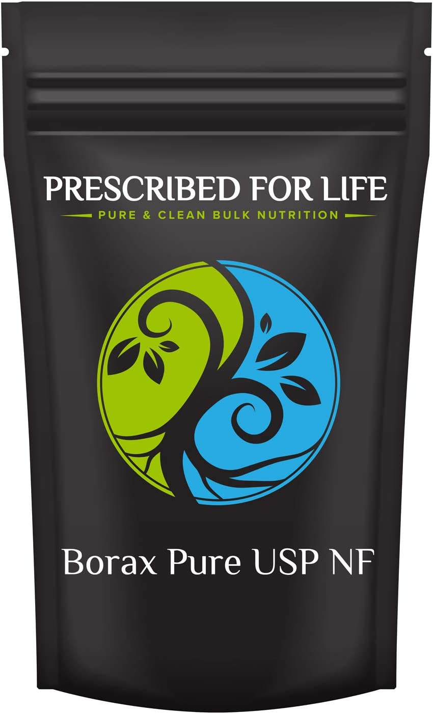 Prescribed for Life Borax - Pure USP-NF Grade Sodium Borate 10 MOL Mineral Fine Powder 70-200 Mesh, 12 oz (340 g)