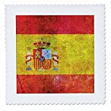 3dRose Andrea Haase Grunge Flag Art - Distressed Style Grunge Flag Of Spain - 22x22 inch quilt square (qs_268086_9)