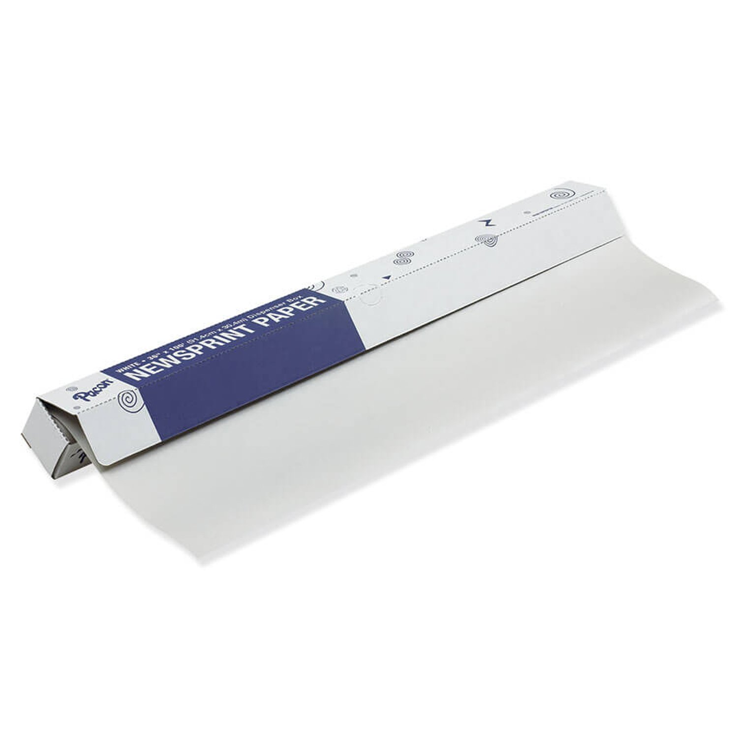 Pacon PAC66401 Newsprint Roll, 36'' x 100', White