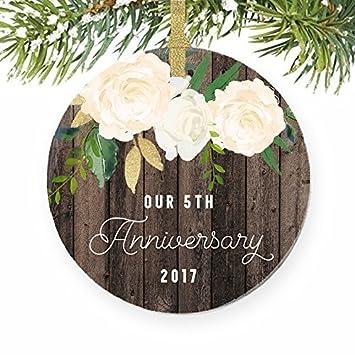 Nos 5eme Anniversaire Cinquieme Annee Married Cadeau De Noel