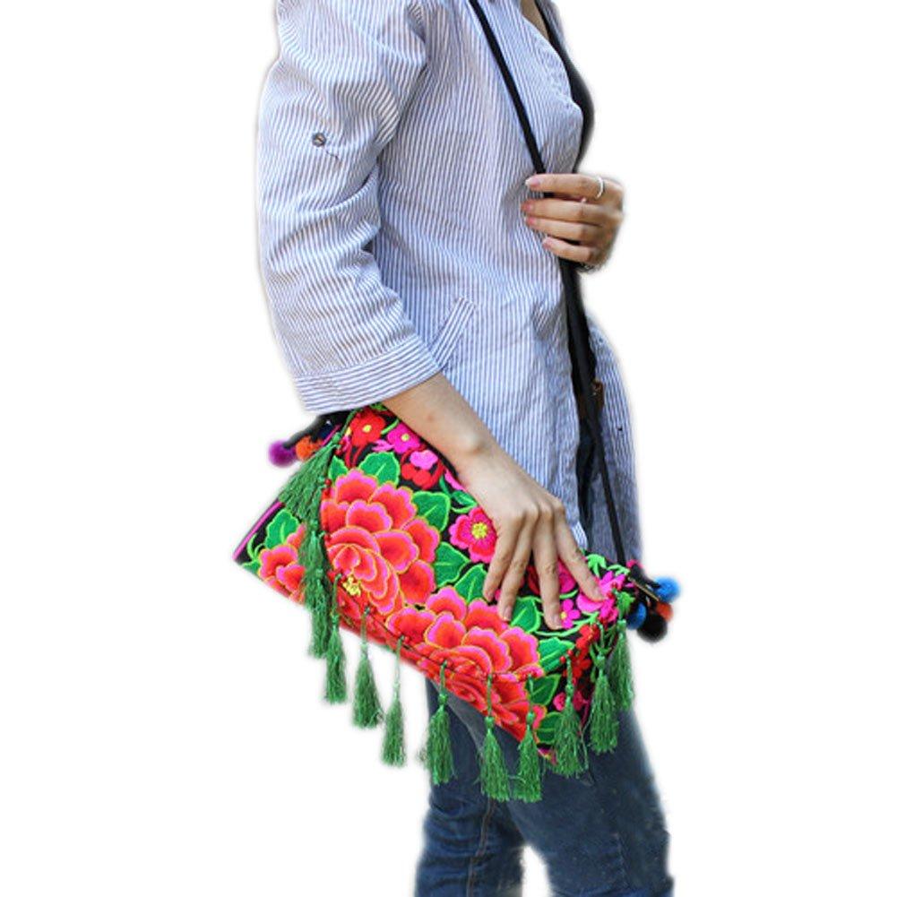 刺繍Needlecraftsハンドメイド刺繍、タッセルバッグ/メッセンジャーバッグ( A )   B00IZBUHUO