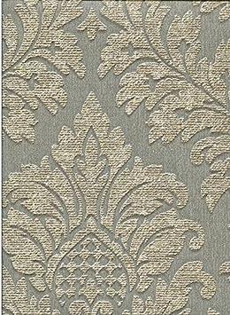 Papier Peint Damasse Classique Contemporain En Vinyle Lavable Effet
