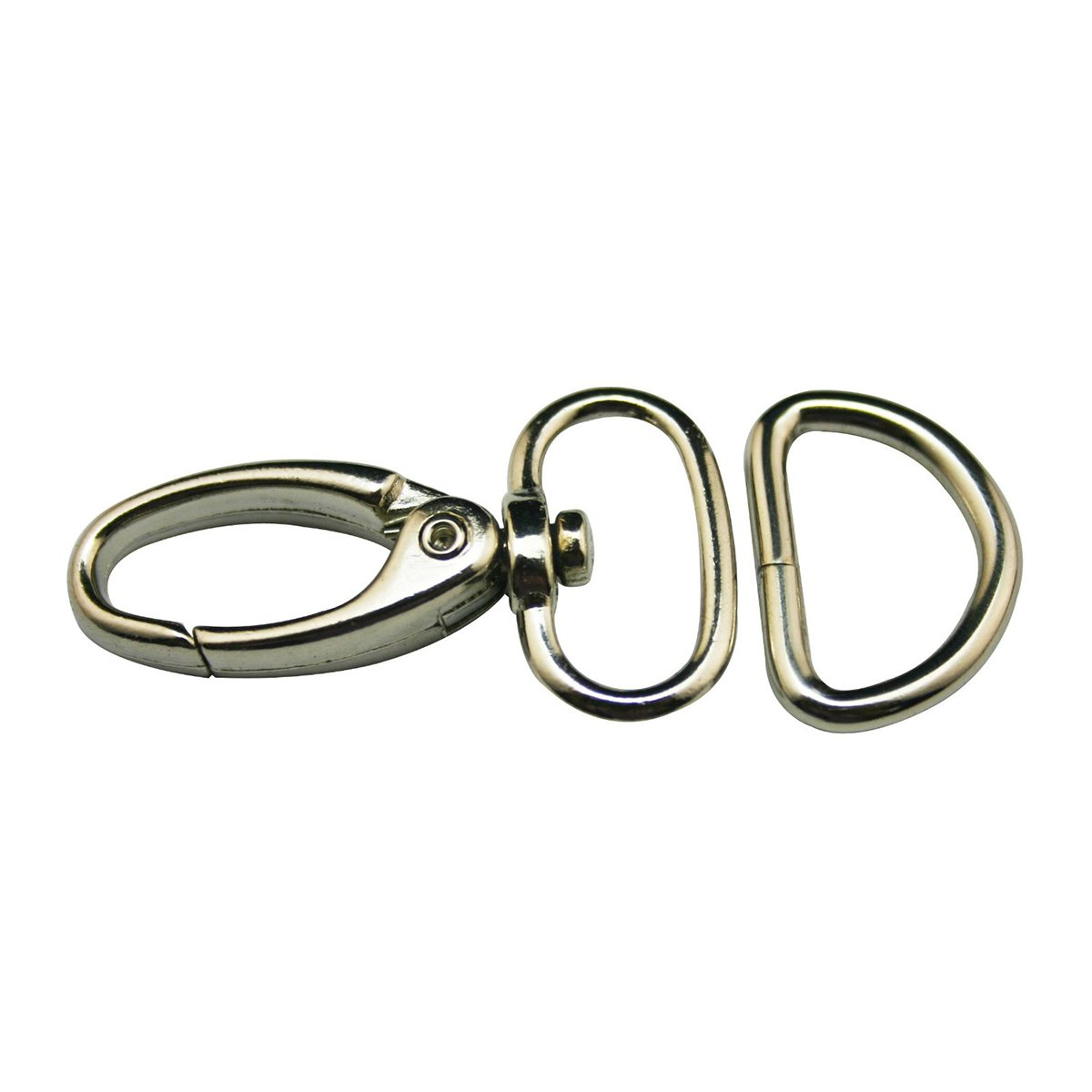 ULTNICE 30pcs Lobster Clasp Swivel Trigger Lobster Snap Clasps Hooks with D Rings