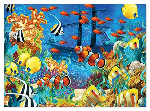 (Melissa & Doug 1,500-Piece Shipwreck Reef and Tropical Fish Jigsaw Puzzle (33 x 24 inches))