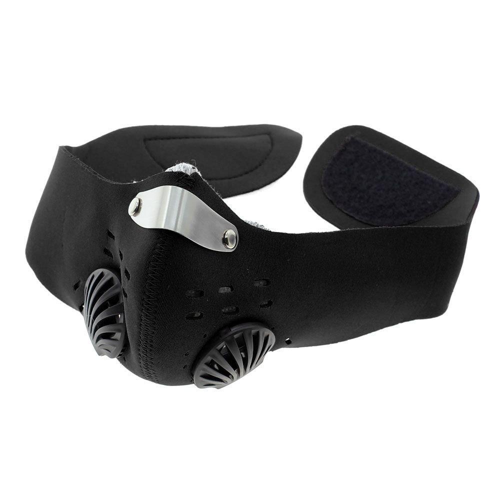 VANKER Conductores de motocicletas de la media cara Anti-polvo Máscara de filtro respirador equipo de ciclo--Negro