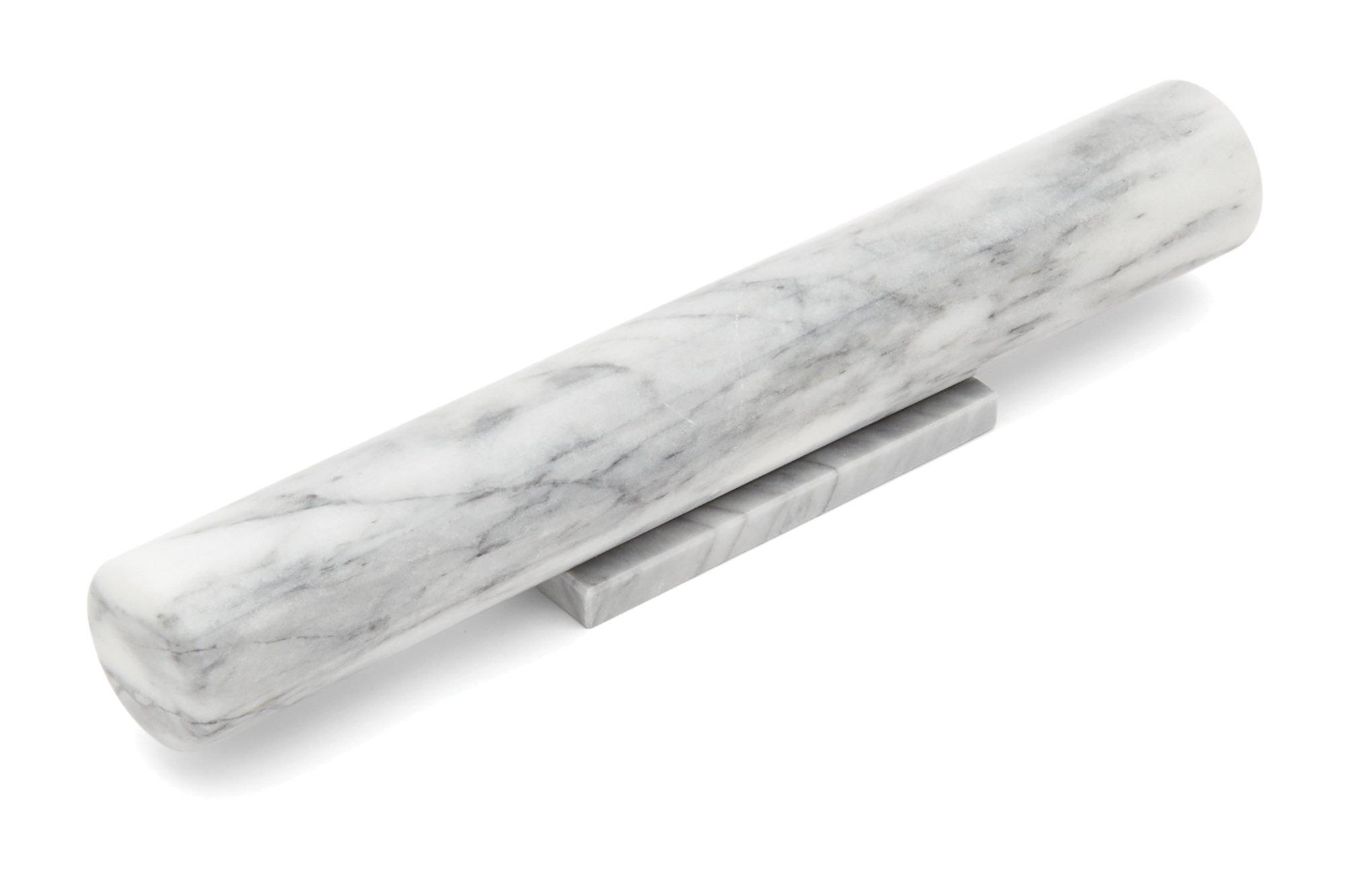 Fox Run 11711 Marble French Rolling Pin, Base, White
