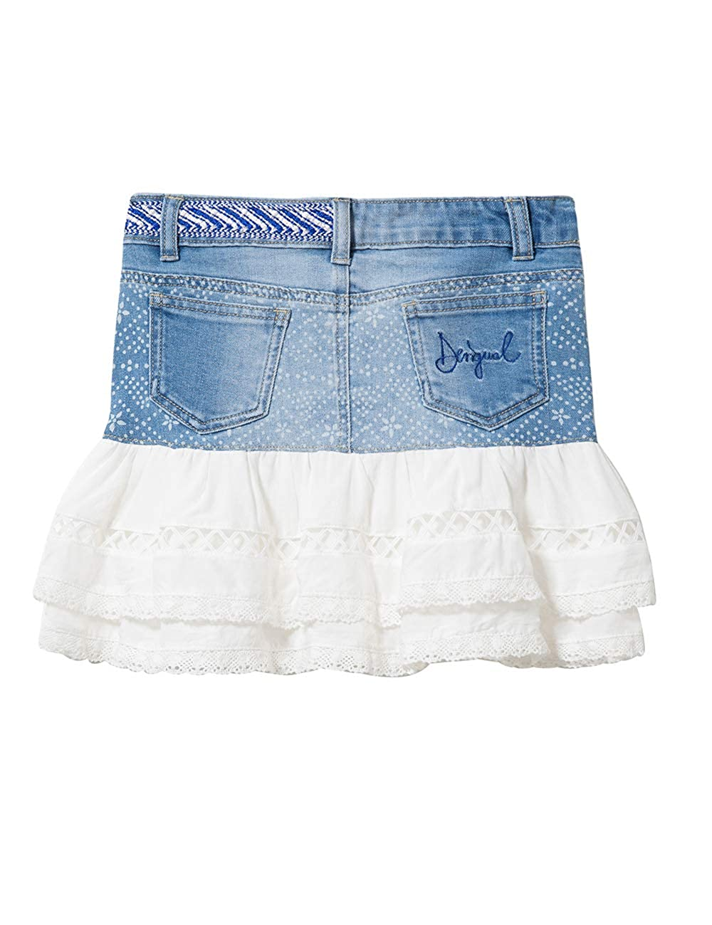 FAL/_calella Desigual Girl Denim Skirt Short Gonna Bambina