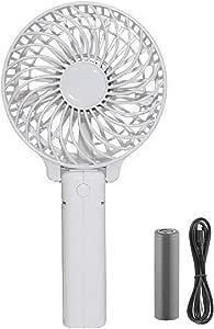 PAPAKOO Ventilador de Mano Mudo Estupendo Portátil y Mini Ventilador Silencioso Recargable WHITE