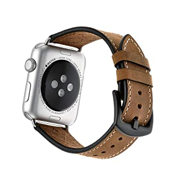 MYGIRLE for Apple Watch Strap - iWatch Straps Genuine Leather ...