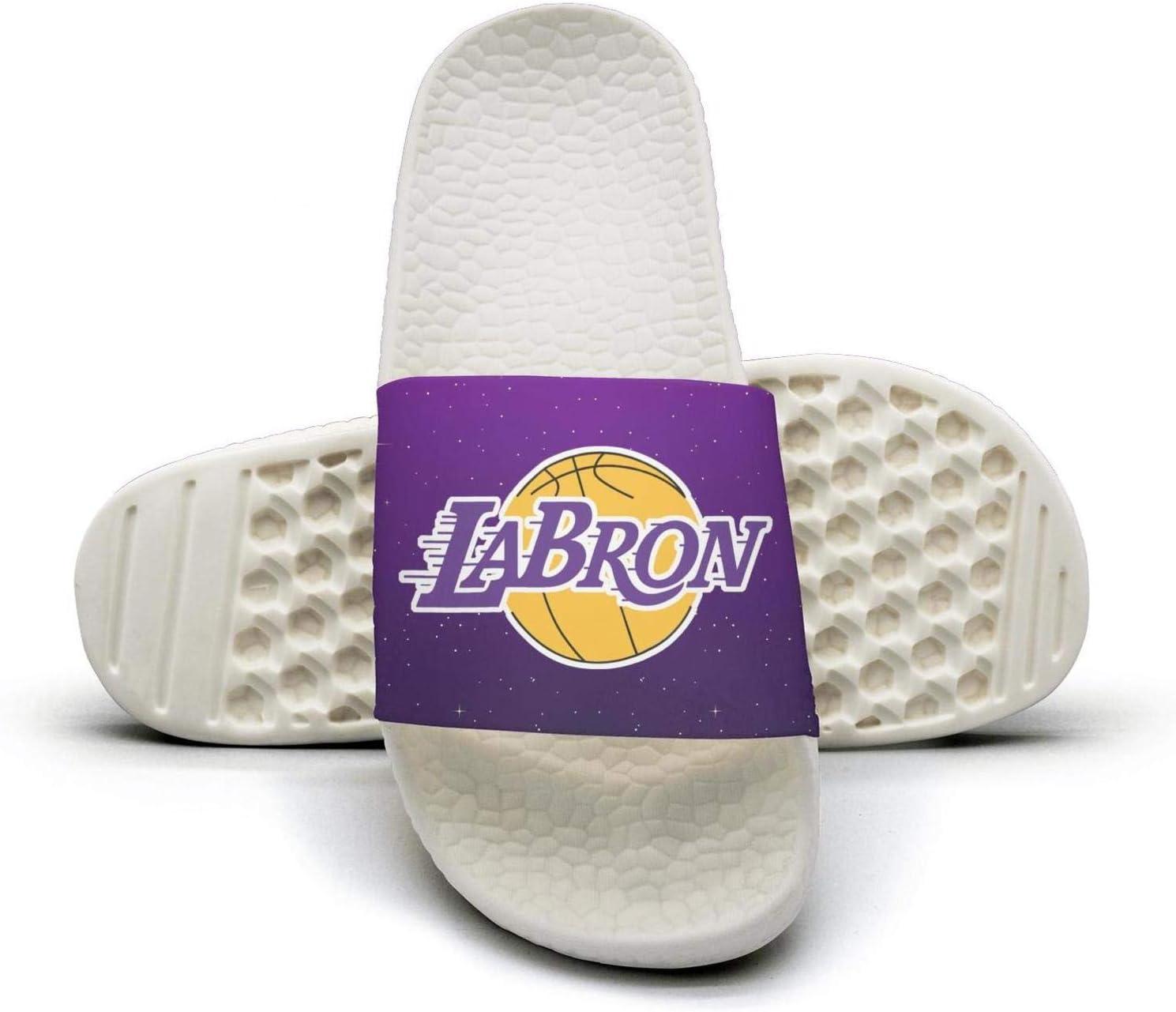 ADIDII Mens Printed Non-Slip Slipper Slides flip Flop Sandals La/_Bron/_Yellow/_Logo/_Basketball Summer Outdoors