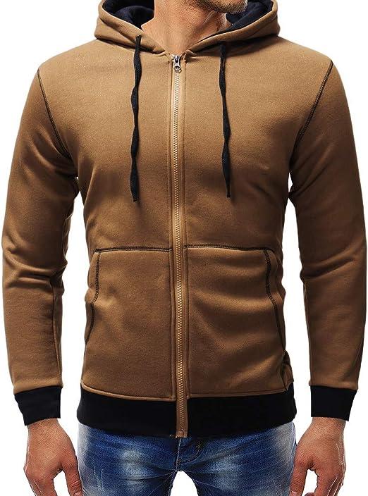 Siviki Mens Long Sleeve Hooded Sweatshirt Tops Jacket Coat Outwear Fashion Hoodies