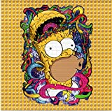 Blotter Art Homer SlMPSON Mind Blown Design