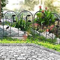 Amagabeli 46cm X 214cm Valla Jardín de Hierro - Set de 6 - Valla Decorativa Metalicas para Jardín Metal Negro: Amazon.es: Jardín
