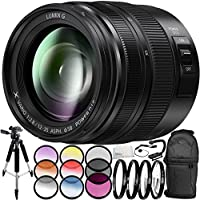 Panasonic Lumix G X Vario 12-35mm f/2.8 II ASPH. POWER O.I.S. Lens 9PC Accessory Bundle – Includes 3 Piece Filter Kit (UV + CPL + FLD) + 6PC Graduated Filter Kit + MORE (White Box)