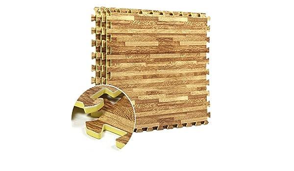 Alfombrilla de goma EVA con efecto madera, alfombrilla para el ...