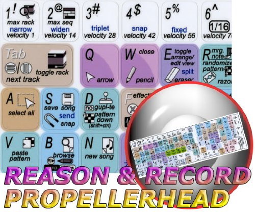 Propellerhead Record (PROPELLERHEAD RECORD & REASON KEYBOARD STICKERS FOR LAPTOP, NOTEBOOK AND DESKTOP)
