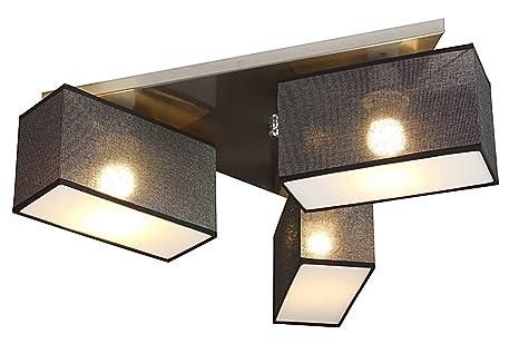 Moderne Lampen 66 : Deckenlampe wero design eris b schwarz mit glanz moderne