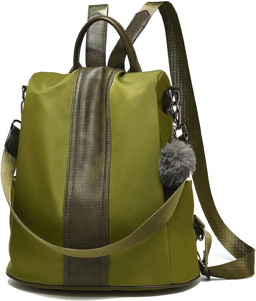 Women Backpack Purse Waterproof Nylon Anti-theft Rucksack Lightweight Shoulder Bag