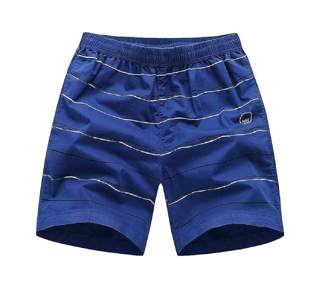 Adriat Mens Contrast Beach Sports Cotton Stripe Short