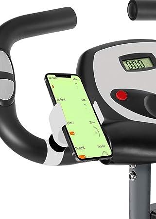 Marvorem Soporte movil Bicicleta estatica F-Bike F-Rider Bici Spinning Ejercicios Fitness Entrenamiento Soporte telefono Bici (Blanco): Amazon.es: Electrónica