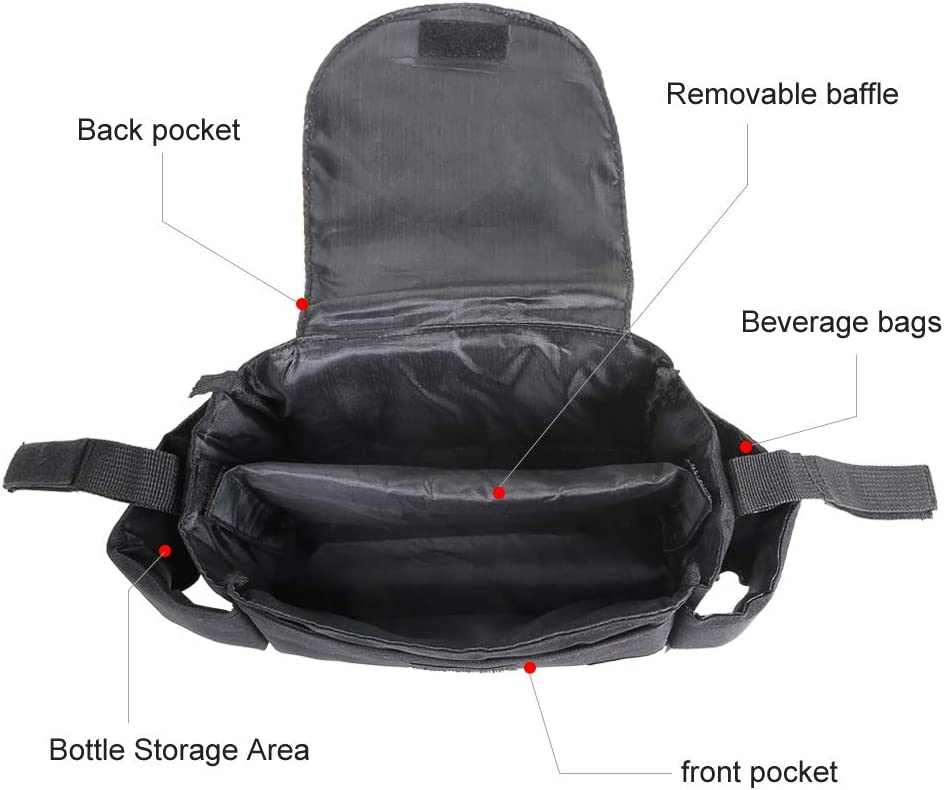 Multi-Functional Baby Stroller Organizer Bag Baby Accessories with 2 Deep Cup Holders /& Shoulder Strap Used as Carry-On Handbag-Universal Fit All Buggy Models Unflavored,Large Storage Space