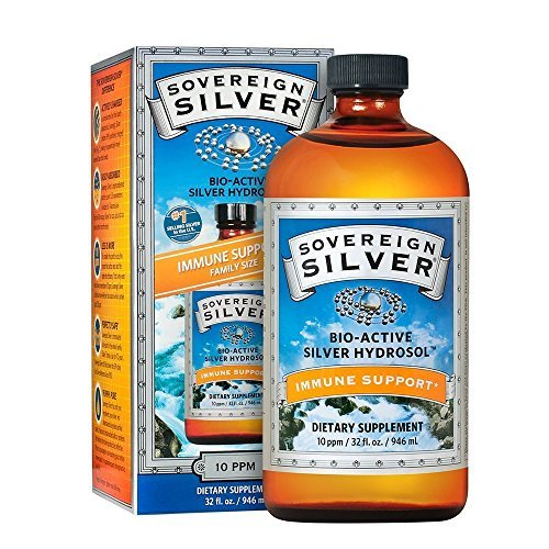 Sovereign Silver Bio-Active Silver Hydrosol for Immune Support - 10 ppm, 32oz (946mL) - Family Size