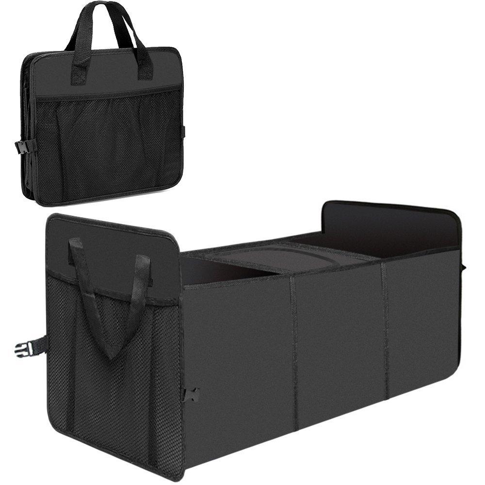 Tobao - Organizador Maletero Coche - Plegable Impermeable Bolsa con 2 Compartimientos y 1 Bolsa de