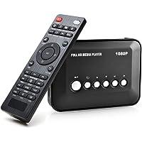 1080P HDMI TV Media Player con salida HDMI / YPbPr / AV, puertos USB / SD con control remoto para MP3 AVI RMVB MPEG.