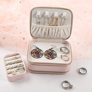 Yumi V Caja de Joyería de Viaje Organizador de Joyería de Viaje ...