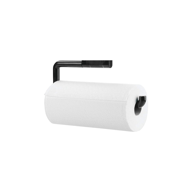 mDesign Portarrollos de papel de cocina fabricado en plástico resistente - Dispensador de papel de cocina para fijar a la pared - Soporte para rollo de ...