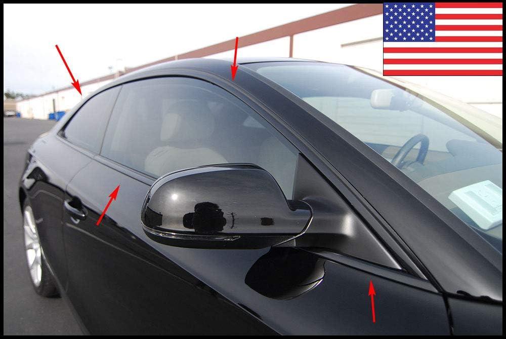8mm Moulding Chrome Car Trim Body Side DIY Anti-Rub DustProof Durable Bodys Bumper Protect Sticker Black 50Ft 5//16