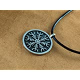 925 Sterling Silver Aegishjalmur - The Helm of Awe Viking Norse Protection Pendant