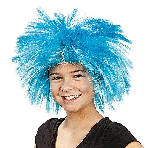 Fun Express - Spikey Blue Wig - Apparel Accessories - Costume Accessories - Wigs & Beards - 1 Piece ()