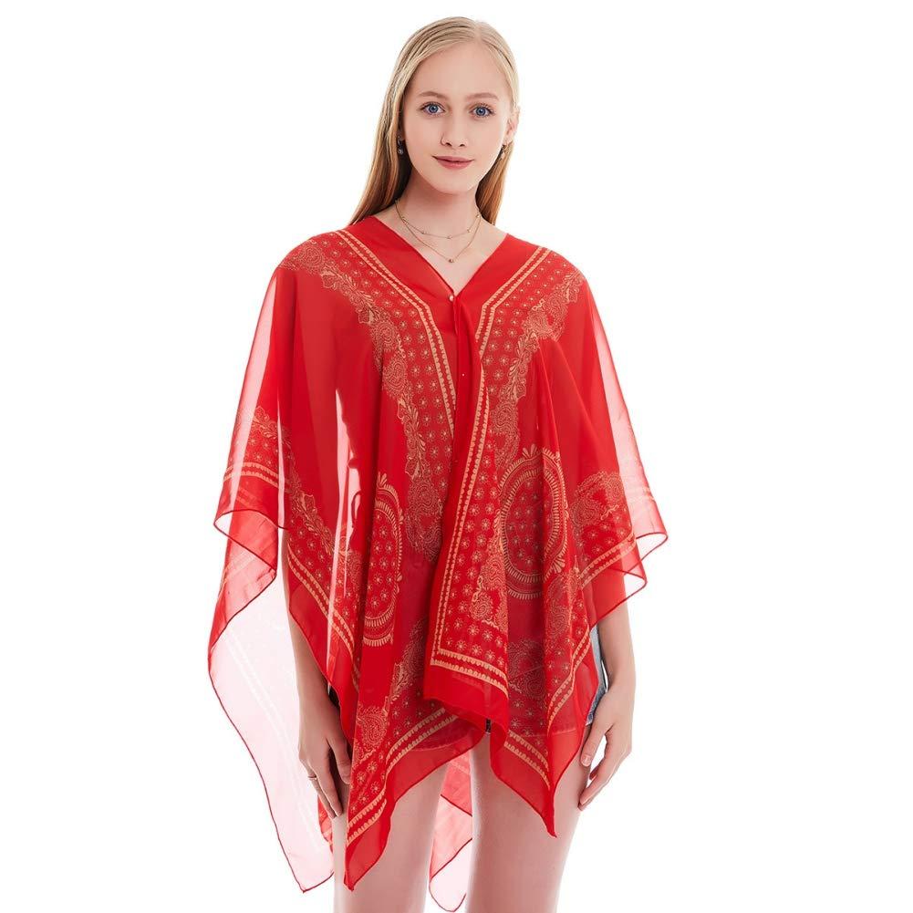 KOERIM Bandana Printed Scarves Women Summer Boho Chiffon Beach Shawl Girls Elegant Ladies Casual Long Soft Wrap Scarf