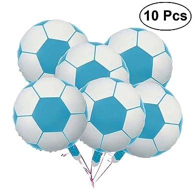 Amazon.com: 10 globos de aluminio para fútbol, balones de ...
