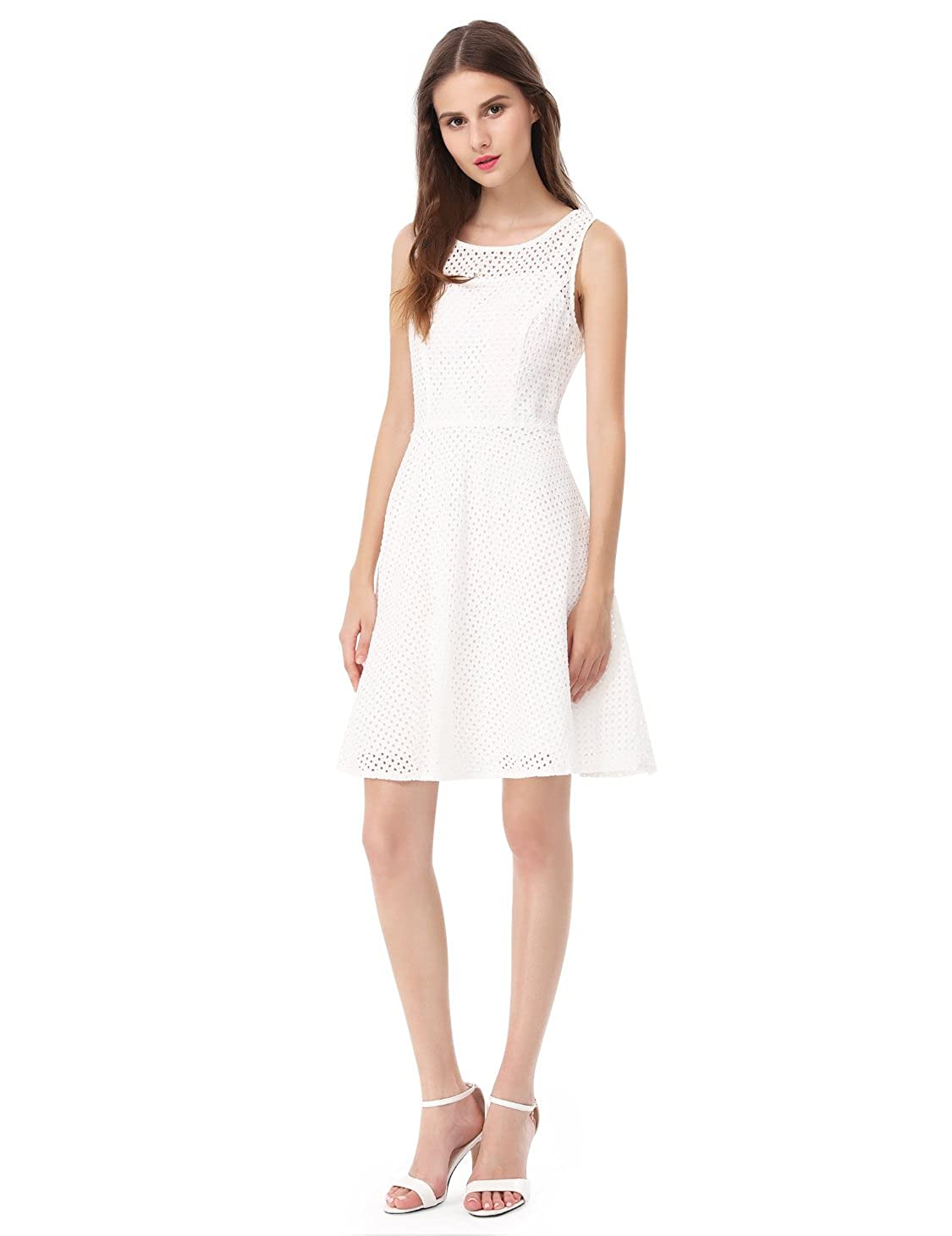 fd49f579618c Alisa Pan Womens Fit and Flare Short Simple Summer Dress 5504 at Amazon  Women's Clothing store: