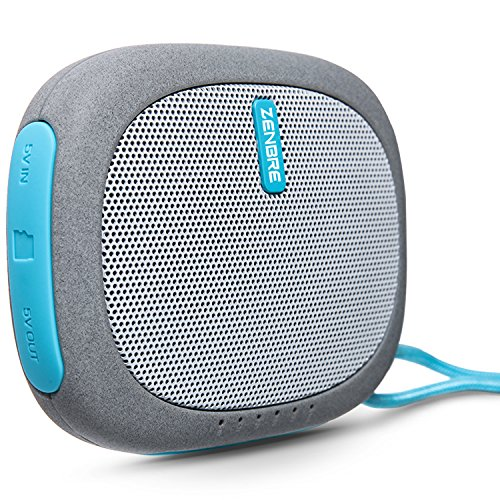 Portable Speakers, ZENBRE D3 Wireless Bluetooth Speaker with 15 Hours Play Time, Small Travel Speaker Support Laptop and all Bluetooth Devices (Blue)