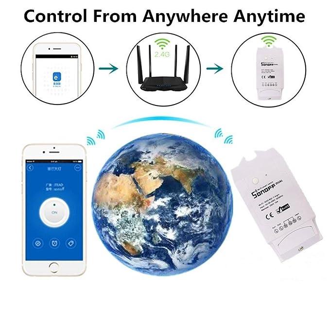 Blue-Yan Interruptor de Control Remoto Inteligente Compatible con Alexa  Echo Administre su hogar a trav/és del Control por Voz Echo Dot//Smart Things//Wink//Zigbee Hub