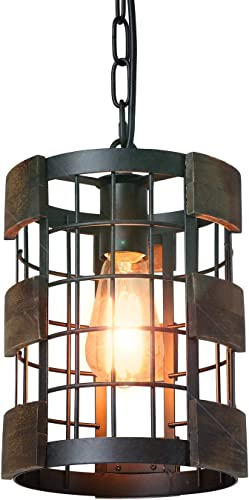 Eumyviv 1 Light Wood Farmhouse Kitchen Pendant Light
