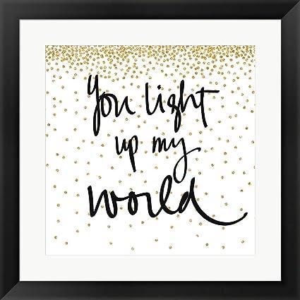 Amazon.com: You Light up My World by SD Graphics Studio Framed Art ...