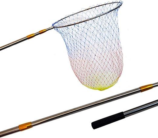 Kai Xin Red de Pesca, Varilla telescópica de Varilla de Acero Inoxidable posicionador de Cabeza de Red Plegable Mango Antideslizante 3 m, 4 m (Size : 4m): Amazon.es: Hogar