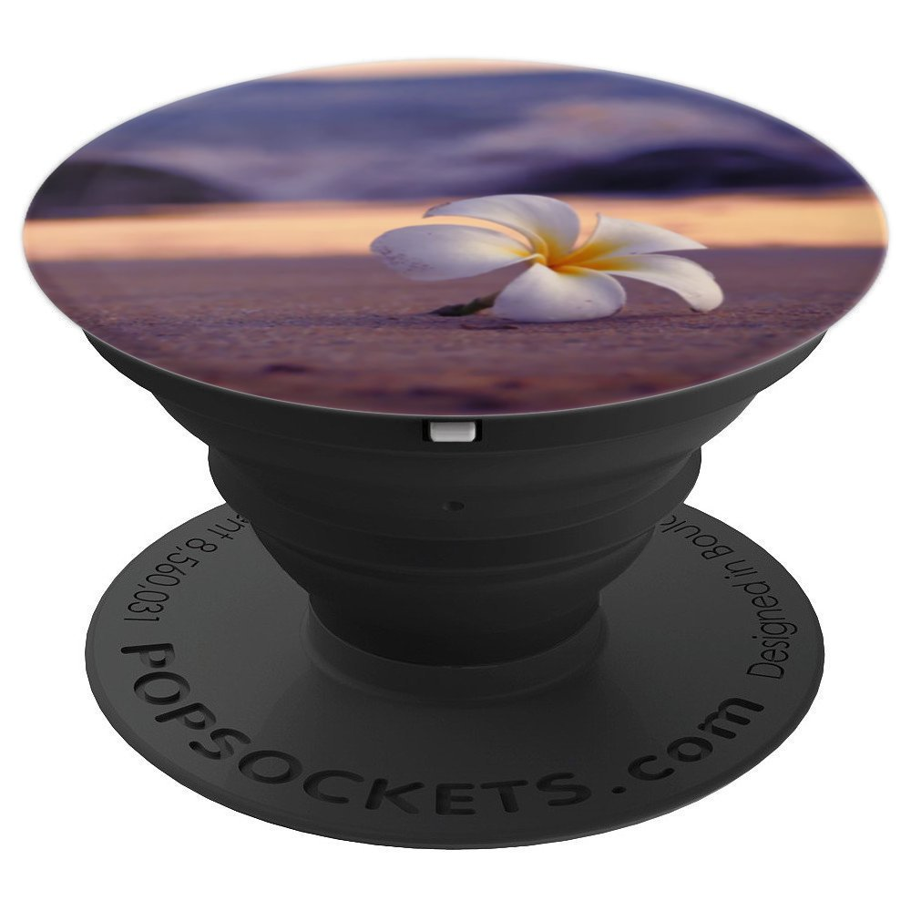 Flower on Beach Cute Tropical Vacation Travel Lover Gift - PopSockets Grip and Stand for Phones and Tablets