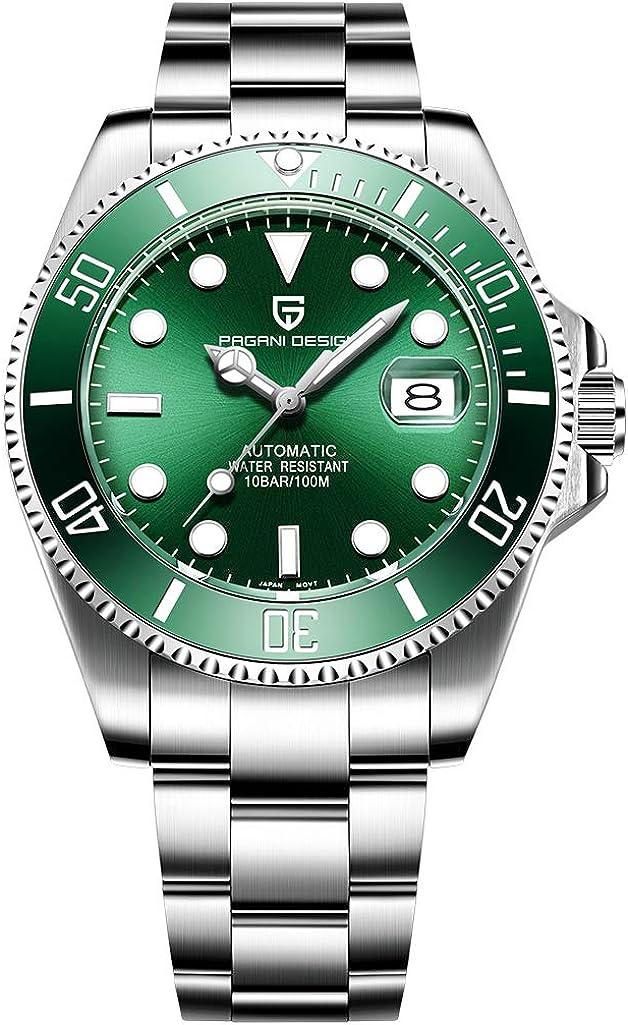 Reloj de pulsera mecánico completo automático para hombre, de acero inoxidable, estilo informal, de negocios, analógico, para hombre