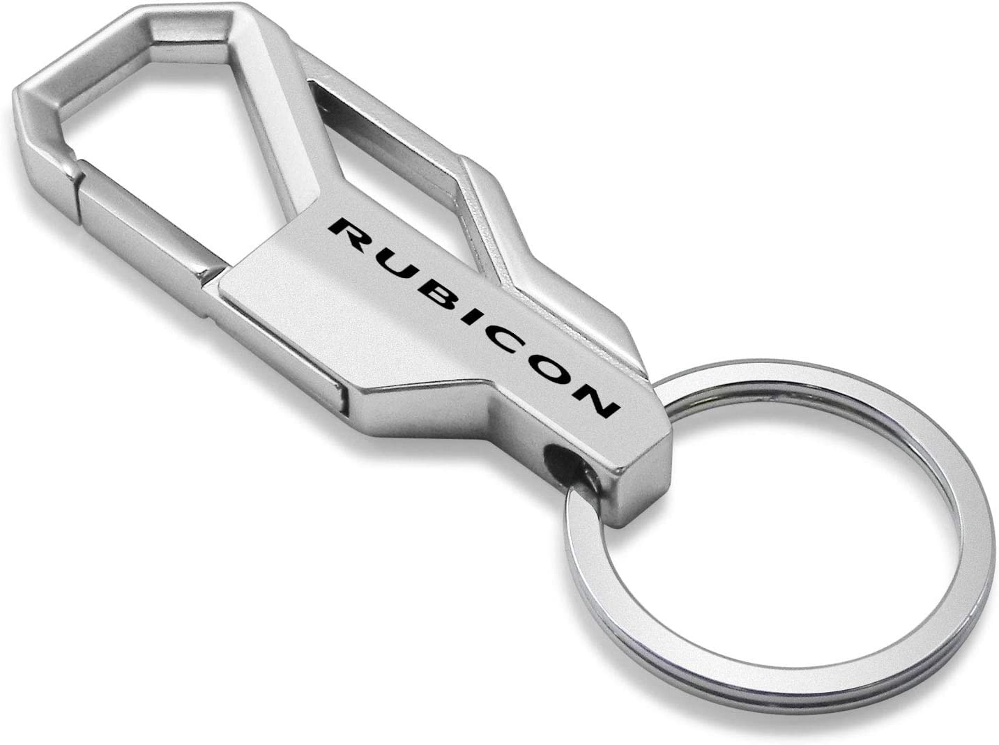 Jeep Rubicon Wrangler Silver Snap Hook Metal Key Chain iPick Image for